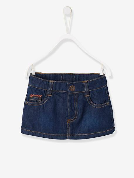 Baby Girls Skirt BLUE DARK SOLID - vertbaudet enfant