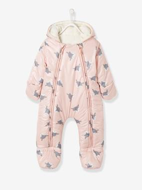 Vertbaudet Collection-Convertible Baby Snowsuit