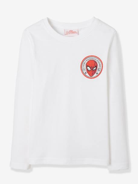 Pack of 2 Long-Sleeved Spiderman® Tops WHITE MEDIUM SOLID - vertbaudet enfant