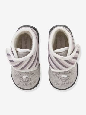 Shoes-Baby Footwear-Slippers & Booties-Baby Shoes with Fur for Boys