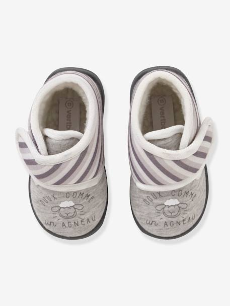 64608ecaa9c50 Baby Shoes with Fur for Boys - grey medium solid with design …