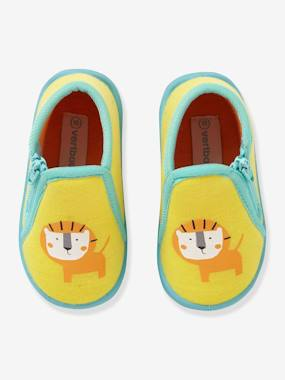 Shoes-Baby Footwear-Slippers & Booties-Slippers with Zip for Boys