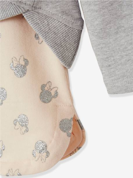Minnie® Sweatshirt + Skirt Outfit for Girls GREY LIGHT SOLID WITH DESIGN - vertbaudet enfant