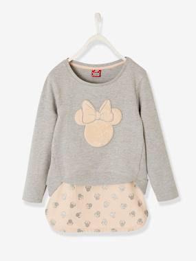 Vertbaudet Collection-Girls-Minnie® Sweatshirt + Skirt Outfit for Girls