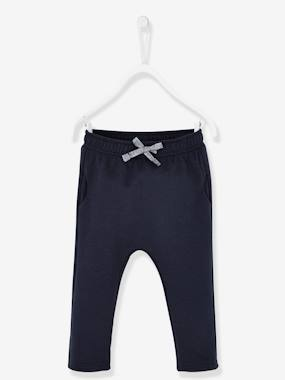 Baby-Trousers & Jeans-Casual Fleece Trousers for Baby Girls
