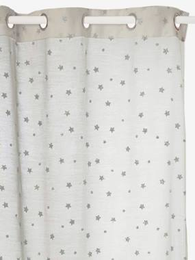 white-Curtain with Iridescent Stars
