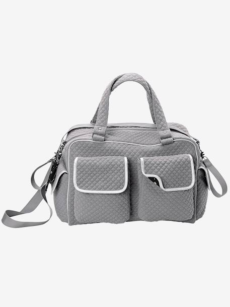 VERTBAUDET Day Changing Bag with Several Pockets Dark grey+GREY DARK TWO COLOR/MULTICOL - vertbaudet enfant