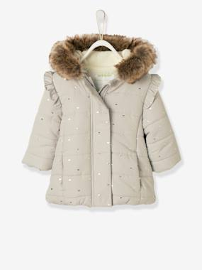 Baby-Outerwear-Coats-Long Padded Winter Jacket, for Baby Girls