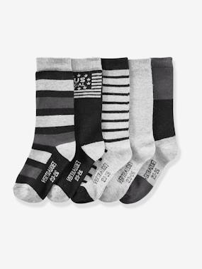 Boys-Underwear-Socks-Pack of 5 Pairs of High Socks for Boys