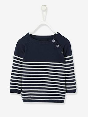 Baby-Cardigans & Sweaters-Baby Boys' Striped Jumper