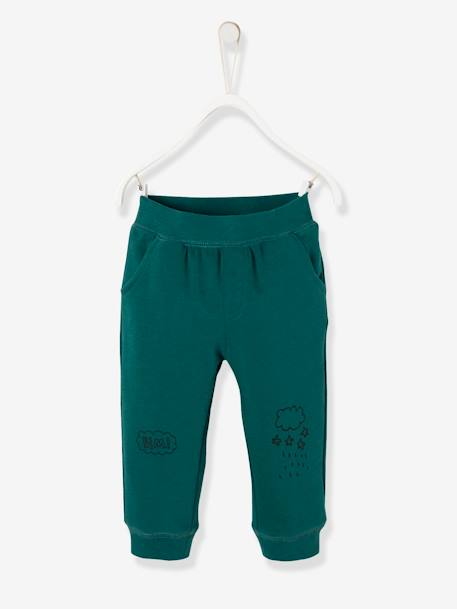 Baby Boys' Fleece Trousers BLUE DARK SOLID WITH DESIGN+GREEN DARK SOLID WITH DESIGN+GREY MEDIUM MIXED COLOR+RED DARK SOLID WITH DESIGN - vertbaudet enfant