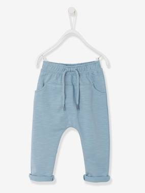 Navy Baby boy-Baby Boys Fleece Trousers