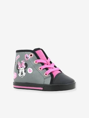 Vertbaudet Sale-Shoes-High Top Minnie® Trainers with Laces for Girls