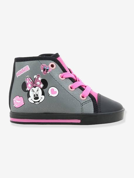Baskets hautes fille Minnie® à lacets GRIS - vertbaudet enfant