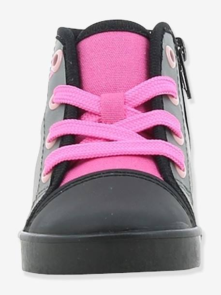 High Top Minnie® Trainers with Laces for Girls GREY MEDIUM SOLID WITH DESIGN - vertbaudet enfant