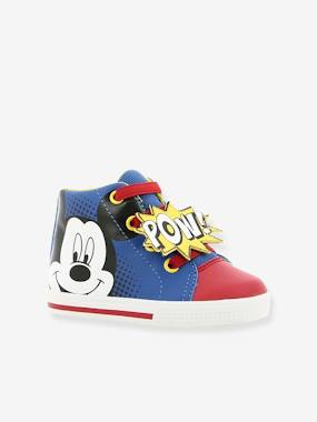Vertbaudet Sale-Shoes-Boys Footwear-High Top Mickey® Trainers with Laces for Boys