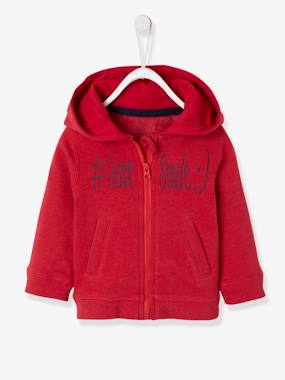Baby-Cardigans & Sweaters-Fleece Jacket with Zip, just smile