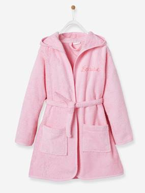 Vertbaudet Collection-Girls-Bathrobes & Dressing Gowns-Child's Hooded Bathrobe