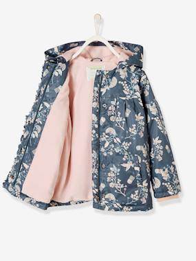 Vertbaudet Collection-Raincoat with Fleece Lining for Girls