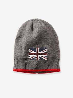 Vertbaudet Sale-Boys-Accessories-Beanie with Flag for Boys
