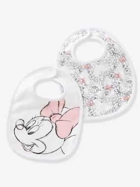 Nursery-Mealtime-Bibs-Pack of 2 Minnie® Print Bibs for Babies