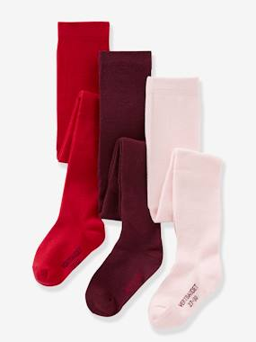 Outlet-Lot de 3 collants en jersey fille
