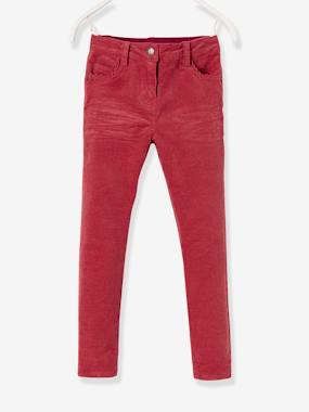 The Adaptables Trousers-Girls-LARGE Fit - Girls' Velvet Slim Trousers