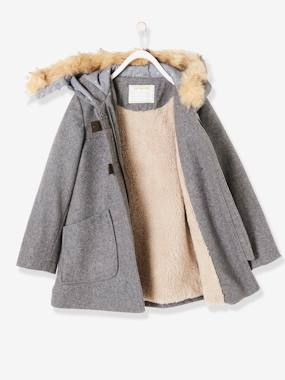 Vertbaudet Collection-Girls-Girls' Wool Mix Coat