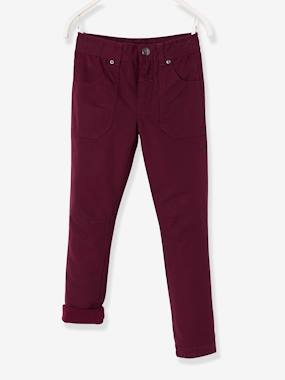 Vertbaudet Sale-Boys-Trousers-Indestructible Straight Leg Trousers with Lining for Boys