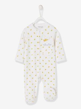 Baby-Pyjamas-Organic Velour Pyjamas for Babies, Press-Studs on the Front