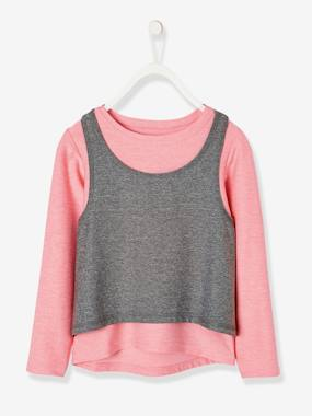 Girls-Sportswear-Long-Sleeved T-Shirt + Sports Vest Top for Girls