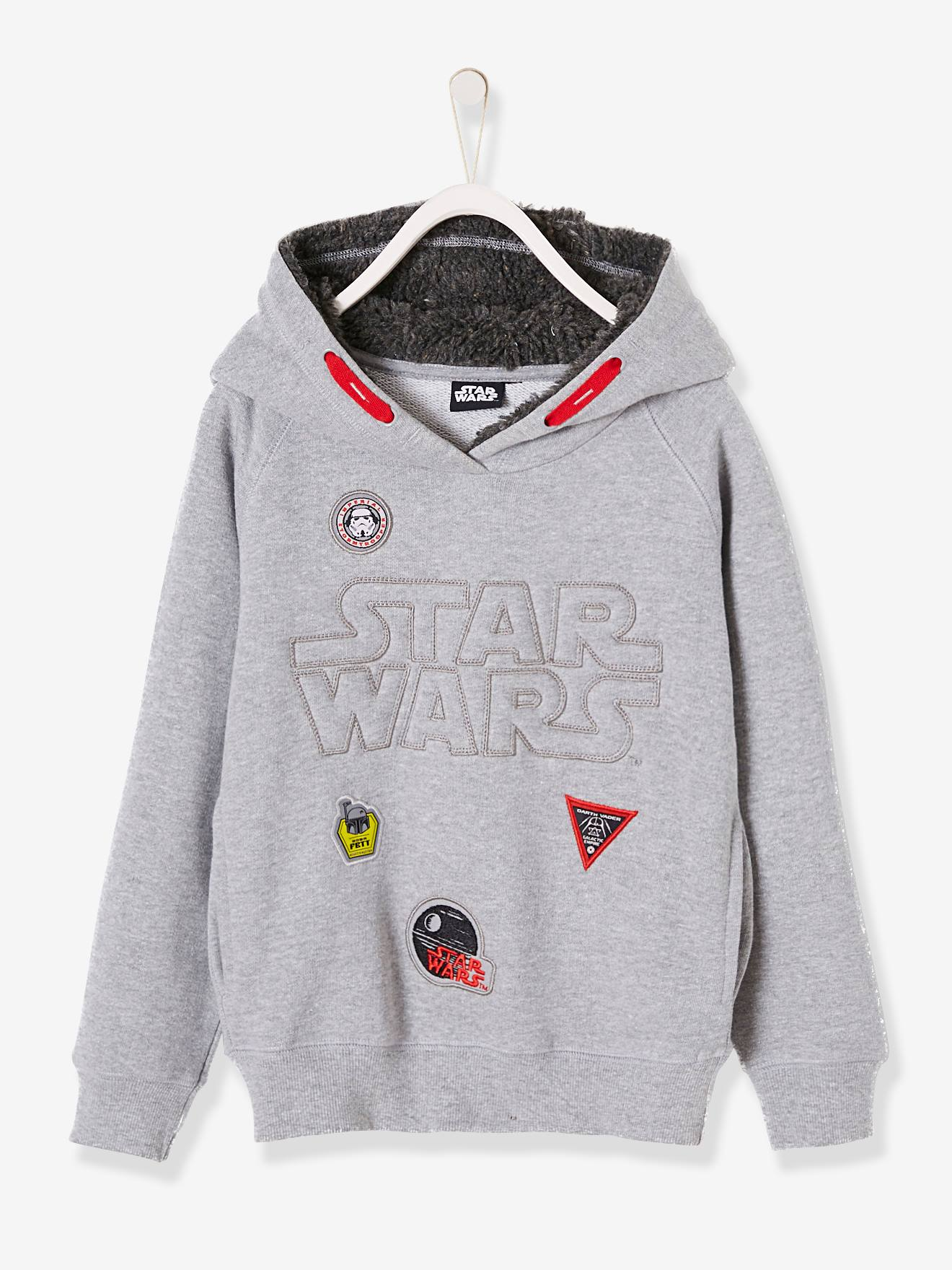 Sweat à capuche Star Wars® en molleton gris chine, Garçon