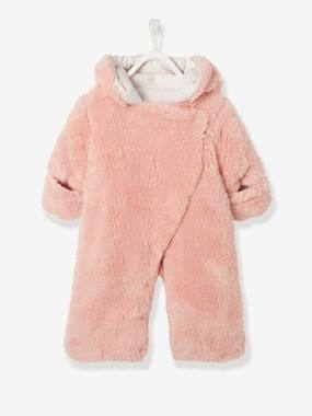 Outlet-Newborn Faux Fur Convertible Snowsuit