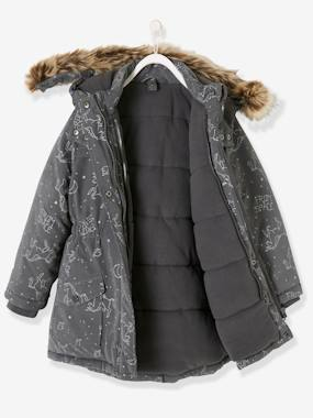 T-shirts-4-in-1 Parka with Fleece Lining for Girls