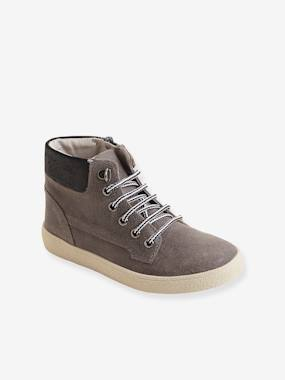 Vertbaudet Sale-Shoes-Boys Footwear-Boys' Leather Ankle Boots