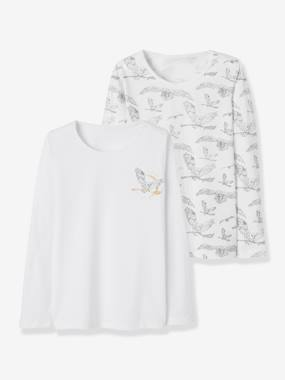 Winter collection-Girls-Underwear-T-Shirts-Pack of 2 Long-Sleeved Harry Potter® Tops, for Girls