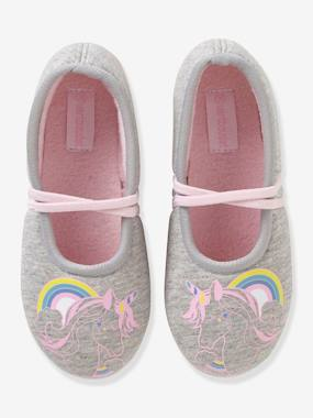 Shoes-Girls Footwear-Slippers-Fabric Ballerina Shoes for Girls