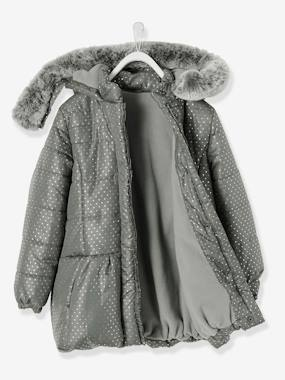 Mid season sale-Girls-Coats & Jackets-Girls' Printed Hooded Padded Jacket