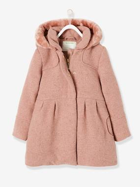 Vertbaudet Collection-Woollen Coat for Girls