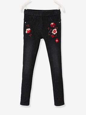 Winter collection-Girls-Jeans-Embroidered Tregging-Style Jeans for Girls