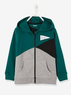 Vertbaudet Collection-Boys' Colour Block Jacket with Zip