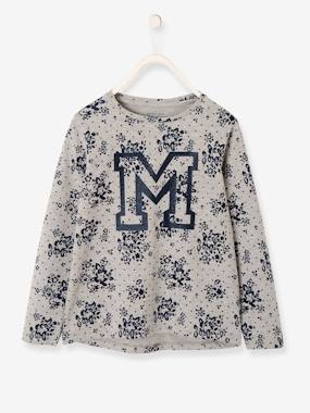 Girls-Sportswear-Flowery Long-Sleeved Top for Girls