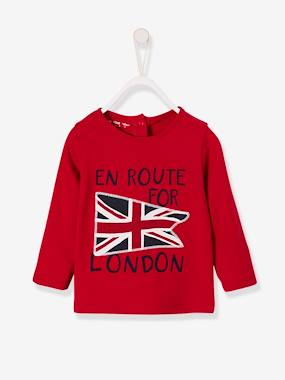 Vertbaudet Sale-Baby-T-shirts & Roll Neck T-Shirts-Top with Motif, for Baby Boys