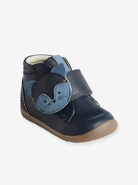 Shoes-Baby Footwear-Baby's First Steps-Leather Boots with Touch 'n' Close Fastening for Boys, First Steps