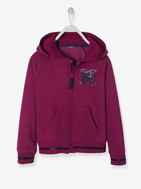 Girls-Sportswear-Hooded Jacket with Zip for Girls