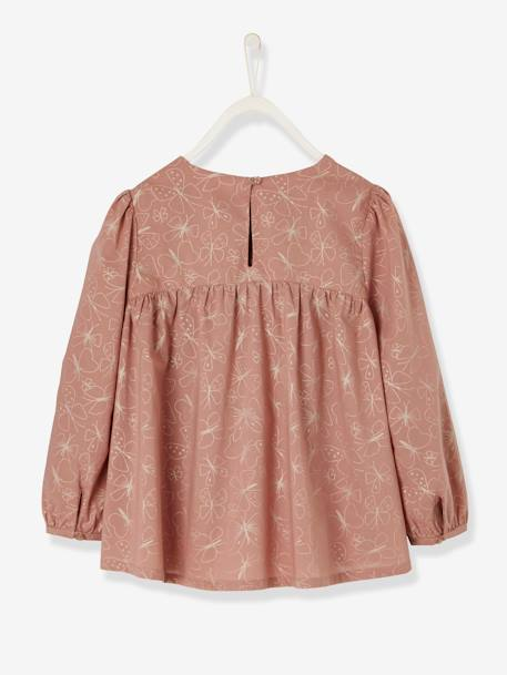 Loose-Fitting Blouse for Girls BLACK DARK ALL OVER PRINTED+PINK LIGHT ALL OVER PRINTED+WHITE LIGHT CHECKS - vertbaudet enfant