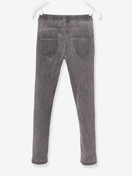 Girls' Denim Treggings BLUE DARK SOLID+BLUE DARK WASCHED+GREY MEDIUM WASCHED - vertbaudet enfant