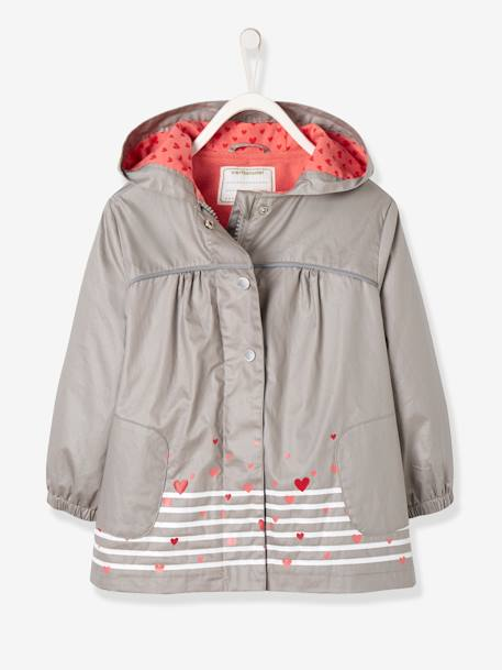 cdc3cc5b231e Girls  Parka with Polar Fleece Lining - grey medium solid with ...
