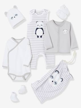Baby-Outfits-6-Piece Set with Large Motif for Newborns
