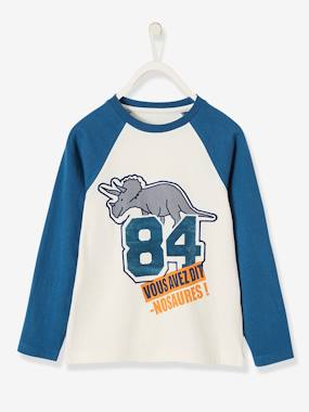 Boys-Tops-T-Shirts-Long-Sleeved Two-Tone Top for Boys